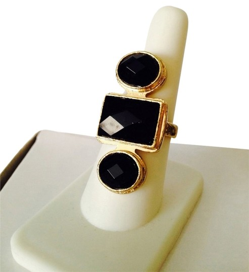 Preload https://img-static.tradesy.com/item/2172647/blackgold-embellished-by-leecia-faceted-resin-gold-tone-ring-size-8-0-0-540-540.jpg