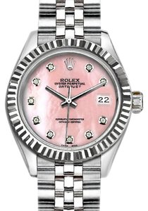 Rolex 36 mm Datejust with Pink Mother of Pearl Dial