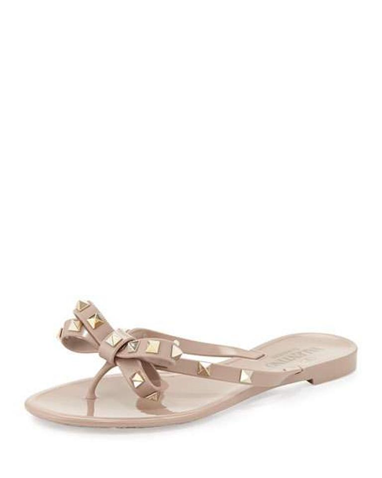 Valentino Nude Rockstud Pvc Thong Sandals Sandals Thong bcee49