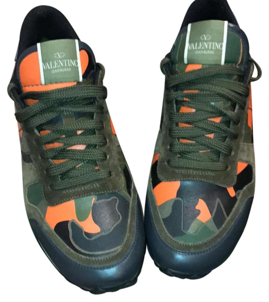 659621d0688b4 Valentino Military Green and Blue Camouflage Rockrunner Men Sneakers ...