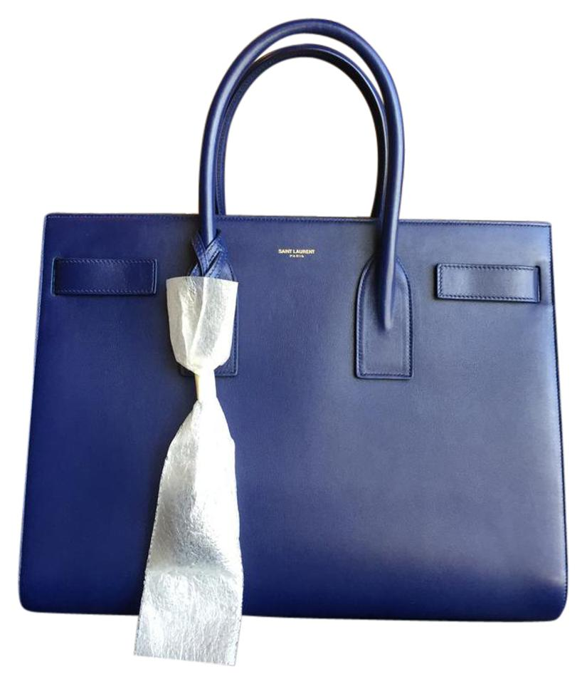 8519acdc88d1 Saint Laurent Sac de Jour Ysl Large Blue Leather Tote - Tradesy