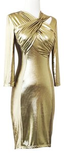 A.B.S. by Allen Schwartz Lame Sexy Fitted Bodycon Metallic Dress