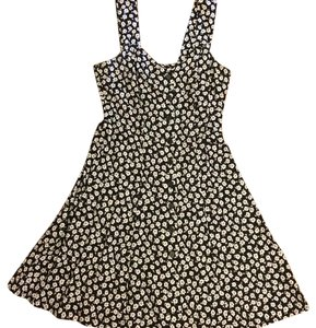 Victoria's Secret short dress black with small white flowers on Tradesy