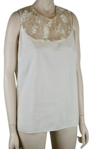 PETER SOM Lace Cotton Sleeveless Blouse Tunic
