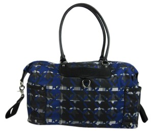 Rebecca Minkoff Abstract Mom Leather Blue Diaper Bag