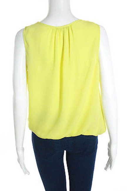 Theory Faux Wrap Top Yellow