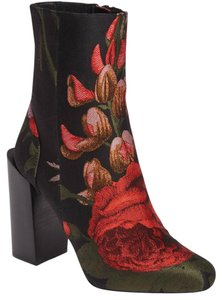 Jeffrey Campbell Floral Embossed satin Bootie Boots