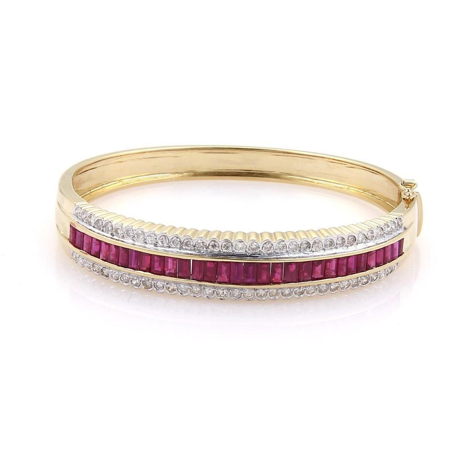 bracelet bangle gilt img silver ruby red sri in glass products gold with lankan