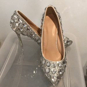 Rhinestone Stilettos Pumps Size US 7 Regular (M, B)