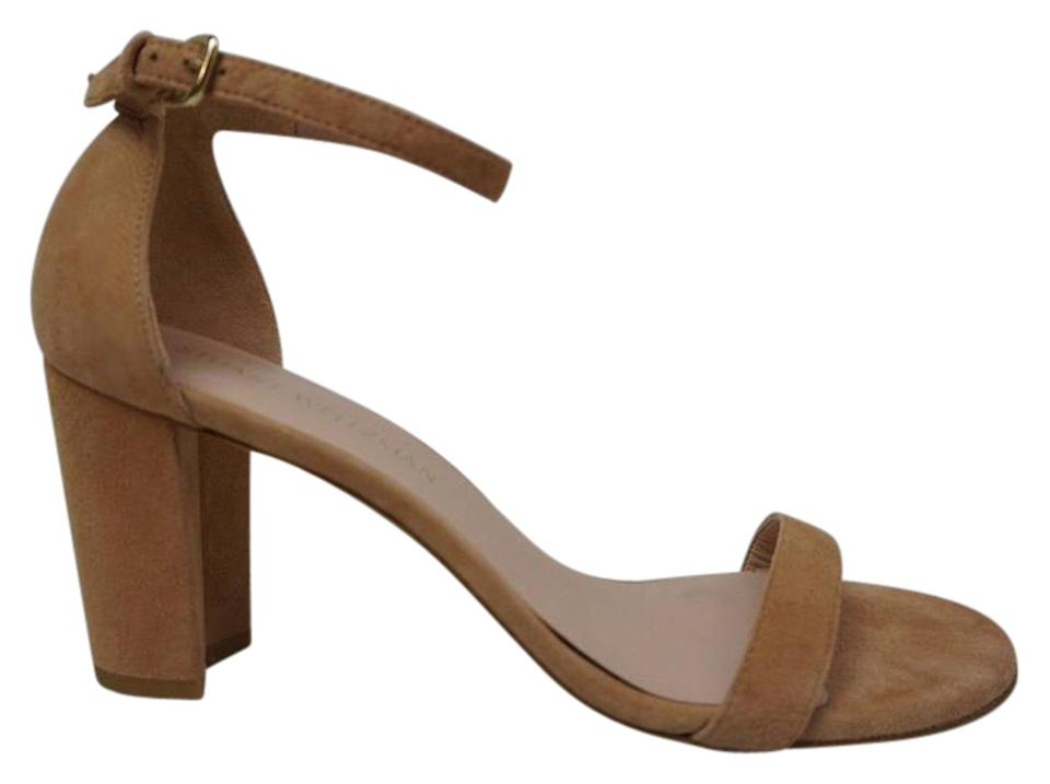 Stuart Weitzman Tan Nearlynude Ankle Sandals Strap Naked Suede Sandals Ankle 2e8a23