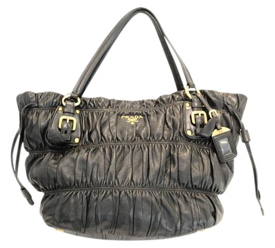 cb2cd72fc1d0 Prada Nappa Gaufre Black Leather Tote - Tradesy