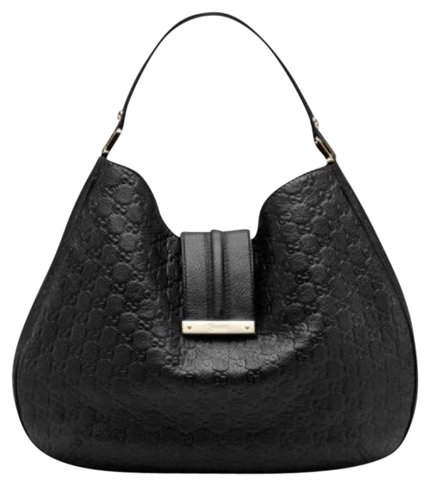 5fc4e0241428 Gucci Ber2g Black Leather Hobo Bag - Tradesy