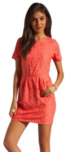 Dolce Vita short dress Coral Lace on Tradesy