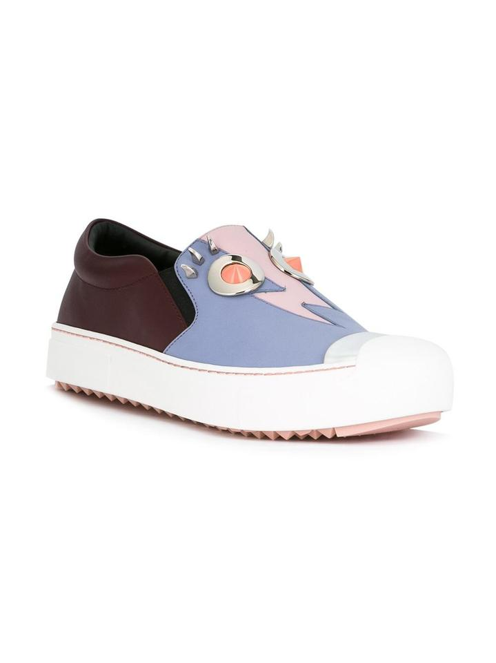 931119b8 Fendi Brown Light Blue Monster Sneakers Size EU 36.5 (Approx. US 6.5)  Regular (M, B) 35% off retail