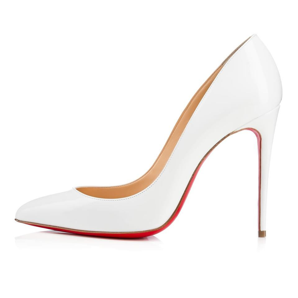 online store 633cd e62d0 Christian Louboutin White Pigalle Follies 100 Patent Leather Pumps Size US  9 Regular (M, B) 9% off retail