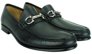 Salvatore Ferragamo Gancio Bit Loafer Ferragamo Loafer Leather Black Formal