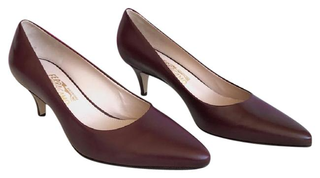 Item - Burgandy Kitten Heels Formal Shoes Size US 8.5 Wide (C, D)