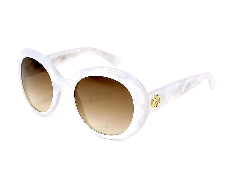 d5e771f7f7274 Gucci Pearl White New (Gg3815) Mother Of Round Made In Italy Sunglasses