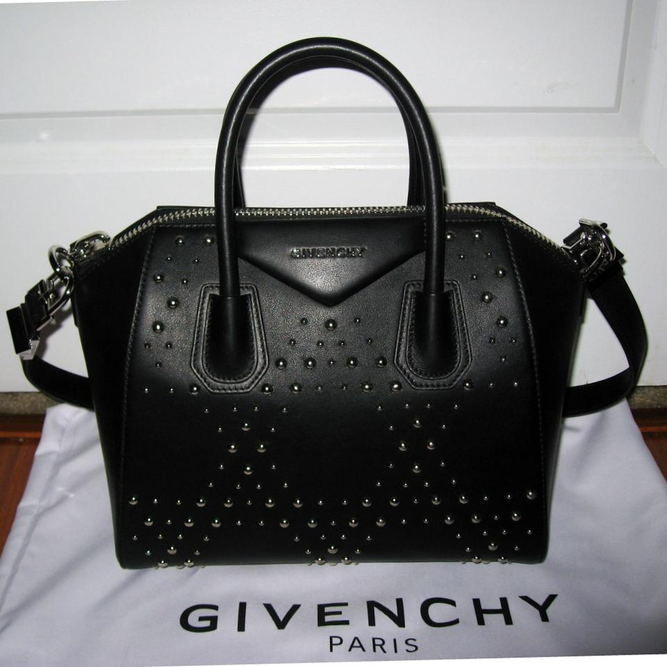 e2084751b6d9 Givenchy Antigona Small Studded Black Calf Leather Satchel - Tradesy
