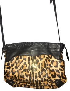 Burberry Leather Shoulder Leopard Cross Body Bag