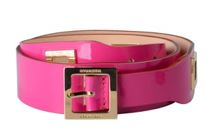 Dsquared2 Dsquared2 Women's Fuchsia Metal Beads Decorated Genuine Leather Belt