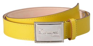 Dsquared2 Dsquared2 Women's Yellow Genuine Leather Metal Buckle Decorated Belt