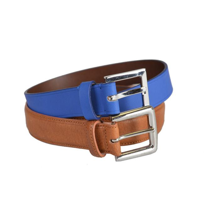 Item - Multi-color Martin Leather Blue Brown Double Belt