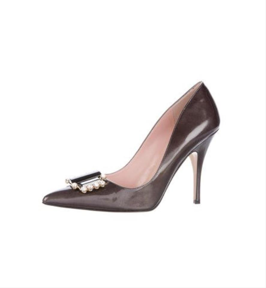 758ca536de52 Kate Spade Grey Laylee Patent Leather Pointy Toe Pumps Size US 6.5 ...