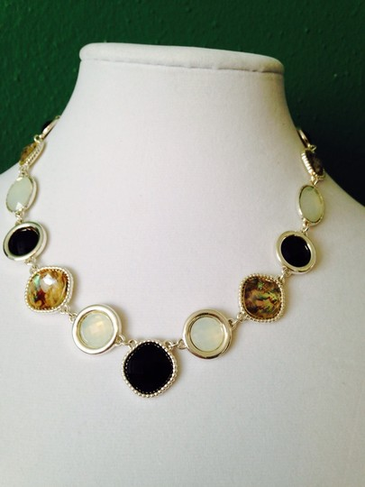 Napier 3-Piece Set, Faceted Black & Crystal Necklace & Earrings (2)
