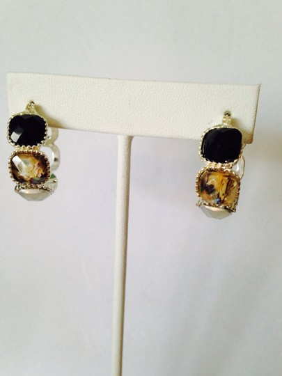 Napier 3-Piece Set, Faceted Black & Crystal Necklace & Earrings (2) Image 5