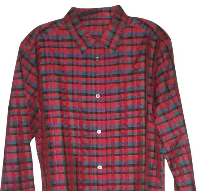 Item - Red Men Button-down Top Size 14 (L)