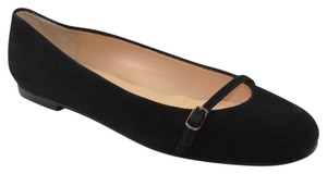 Jon Josef Designer New Spain Mary Janes Black Suede Flats