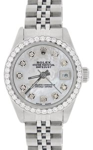 Rolex Rolex Datejust Ladies 26mm Steel Jubilee w/MOP Diamond Dial & Bezel