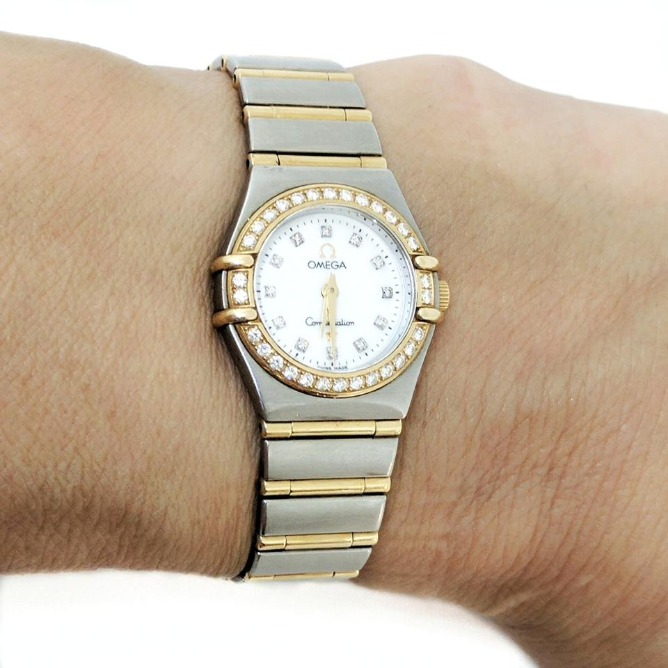ebe98c2471d Omega Omega Ladies Constellation Diamond and Gold Watch Gently Used! Image  11. 123456789101112