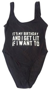 MyLuxury1st IT'S MY BIRTHDAY AND I'LL GET LIT IF WANT One Piece Bathing Suit LARGE