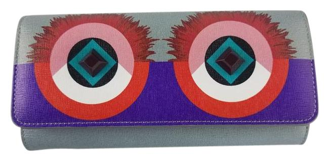 Item - Gray and Purple Eyes Crayon Continental Wallet