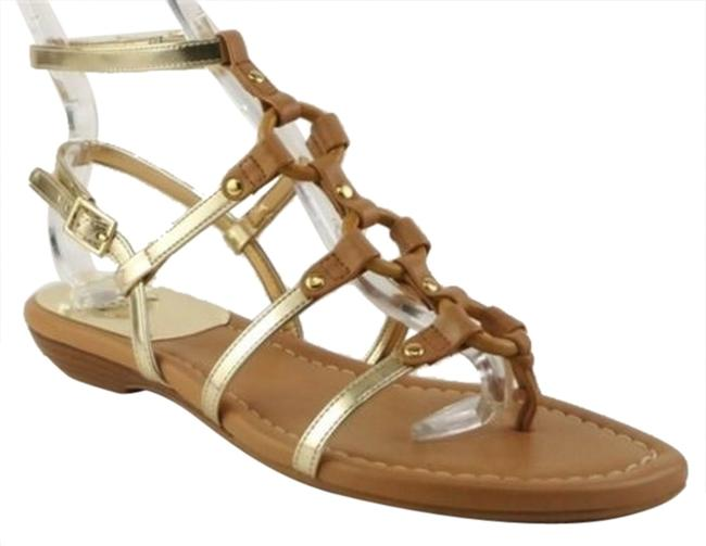 Item - Donuts Almond Butter Gold Womens T- Strap Gladiator Sandals 8 M