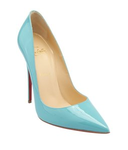 Christian Louboutin Heels Patent Leather Blue Sandals
