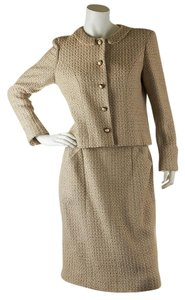 Chanel Chanel Beige Wool Skirt Suitx Size 42 (27725)