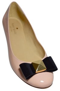 Kate Spade New Bow Patent Leather Pink Flats