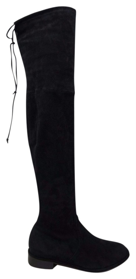 6677e3a85 Stuart Weitzman Black Lowland Over The Knee Suede Boots/Booties Size ...