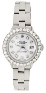 Rolex Rolex Datejust Ladies 26mm Steel Oyster w/White Diamond Dial & Bezel