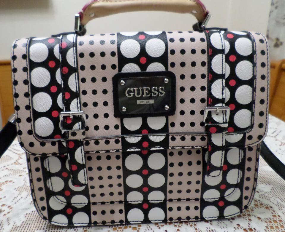 55293c729 Guess Satchel Handbag Multi-dots Multi-color Leather Shoulder Bag ...