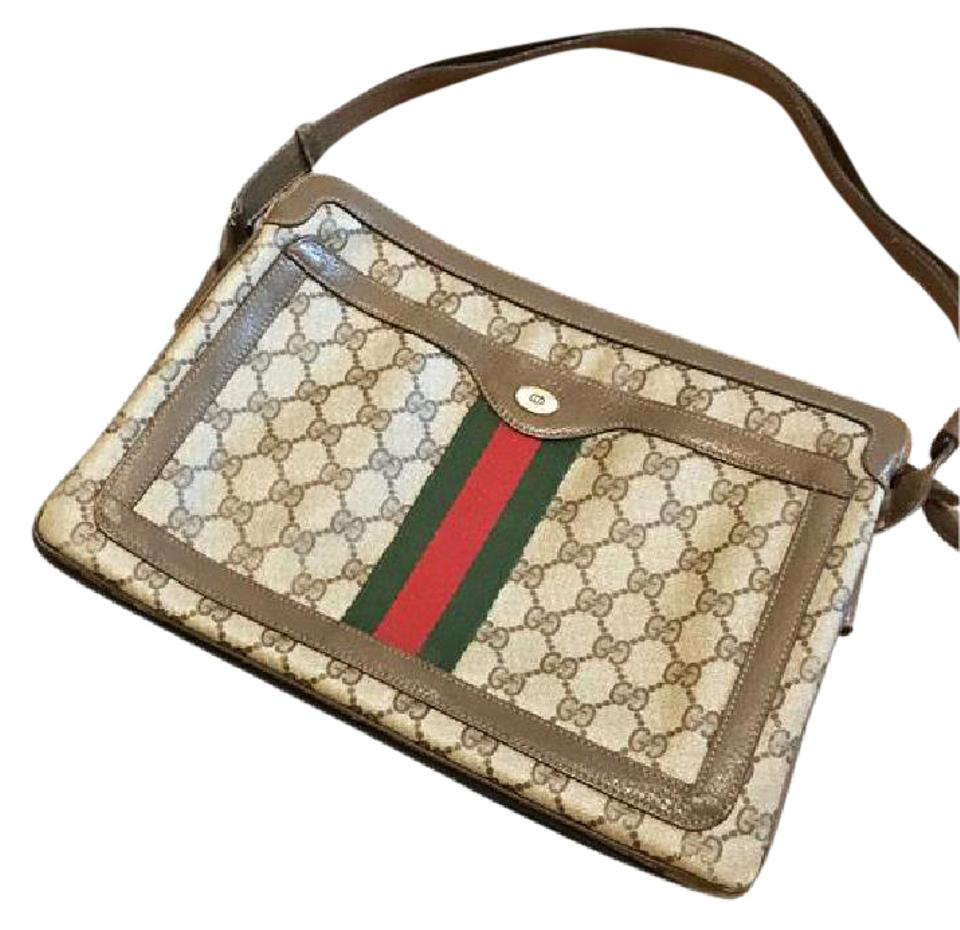 e6b9d4ff5667 Gucci Vintage 4 Style Wear Accessory Collection Adjustable Brown ...