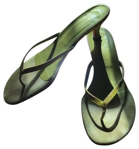 Saks Fifth Avenue chartreuse Sandals