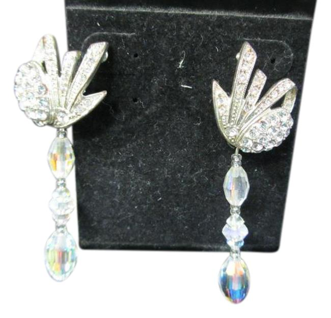 Item - W P325e ( E-40) - Iridescent Linear Drop W/ Pave Earrings