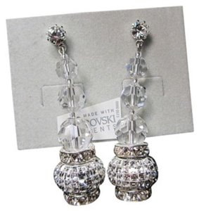 Giavan Giavan HOL584 ( e-20) Crystal Drop Earrings with Swarovski Charm