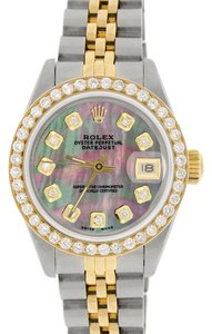 Rolex Rolex Datejust Ladies 2-Tone 26mm w/Tahitian MOP Diamond Dial & Bezel
