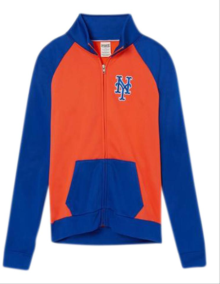 newest 9f241 90f9d Victoria's Secret Orange/Blue Pink New York Mets Bling Track Jacket Full  Zip Bnwt Sweatshirt/Hoodie Size 2 (XS)