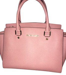 Michael Kors Leather Tote in Pink